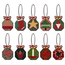 paper pieced octagon ornaments