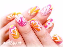 orange nail designs nailbees
