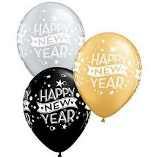 qualatex balloons happy new year black silver and gold qualatex balloons 27 9cm
