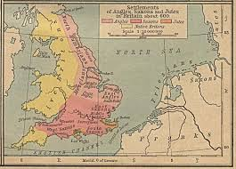 Map Of Kent England by Map Of The Settlements In Britain 600 Ad