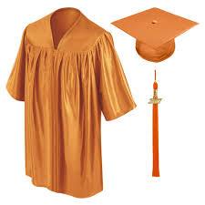 preschool caps and gowns orange preschool cap gown tassel gradshop