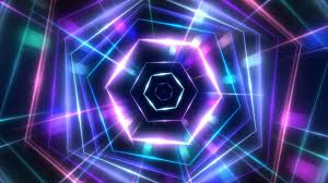 neon party hexagon neon light vj party background motion background videoblocks