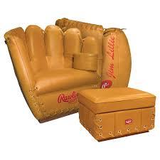 baseball chair and ottoman set baseball glove chair and ottoman furniture