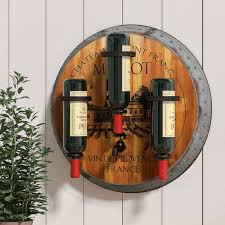 august grove eden merlot 3 bottle wall mounted wine rack u0026 reviews