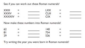 of the best roman numerals resources for ks1 2 maths