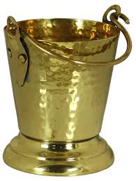 brass bucket with golden color finish u2013 unique interior decorating