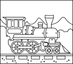 Steam Locomotive Coloring Pages Train Coloring Page Printables Apps For Kids by Steam Locomotive Coloring Pages