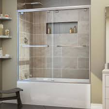 framed shower doors showers the home depot encore 56 in to 60 in x 58 in framed bypass tub door
