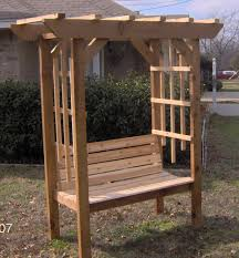 Arbors And Pergolas by New Cedar Wood Garden Arbor With Bench Pergola Arch Benches