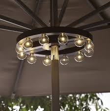 Patio Umbrella With Solar Lights by Rectangular Patio Umbrella With Solar Lights Home Design Ideas