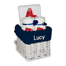boston gift baskets sox white personalized small gift basket ii