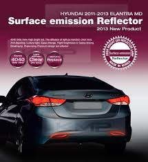 rear bumper hyundai elantra surface emission rear bumper reflector 2way for hyundai 2011 2013