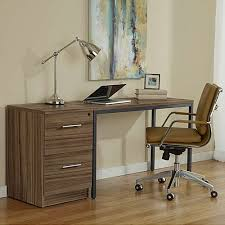 narrow parsons desk with file cabinet u0026 jesper office yliving