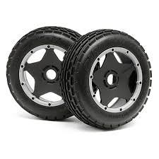 siege rib dirt buster rib tire m compound on black wheel