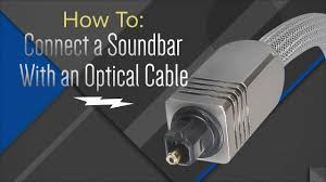 rca home theater sound bar rts7010b how to hook up your soundbar with an optical cable youtube