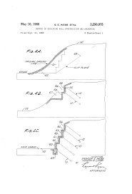 patent us3250075 method of retaining wall construction and