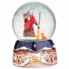 la befana musical snow globe italian children s market