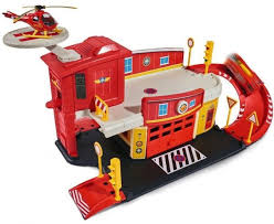 simba 203099623 dickie fireman sam fire rescue center 1 car