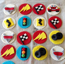 cars cake toppers car cupcake toppers on fondant cake images