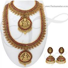 antique finish mango design indian bridal jewellery set