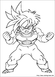 dbz coloring free download