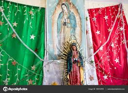 Guadalupe Flag Virgin Mary And Mexican Flag U2013 Stock Editorial Photo Jkraft5