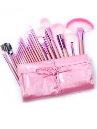 22pcs pink makeup brush set shein sheinside