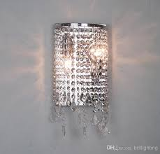 crystal sconces for bathroom modern crystal wall l mirror light bathroom contemporary wall