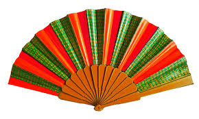 held folding fans held folding fan painted on fabric one of a no1