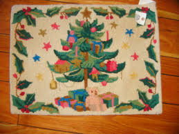 Hand Hooked Rug Kits Hand Hooked Christmas Rugs Roselawnlutheran