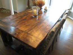 decor interesting natural wood rustic dining room tables with
