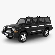 3d model jeep commander suv cgtrader