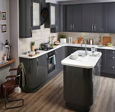 grey kitchen cabinets b q b q it santini gloss anthracite slab monocrhome kitchen