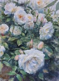white roses for sale white roses by richard tiejun chao paintings for sale