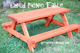 Diy Wood Picnic Table by Greene Acres Hobby Farm Diy Wooden Child Picnic Table Instructions