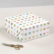 Map Paper Map Hearts Luxury Gift Wrapping Paper By Bombus