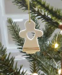 set of 4 christmas angel tree decorations