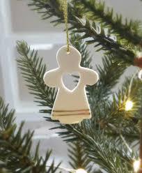set of 4 christmas angel tree decorations
