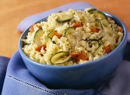 cuisiner courgettes risotto aux courgettes et poivrons maggi