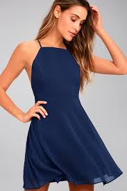 dress blue lovely navy blue dress skater dress fit and flare dress