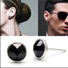 black onyx stud earrings square heart black agate onyx stud earrings for men