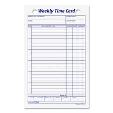 tops employee time card weekly 4 1 4 x 6 3 4 100 pack gb