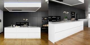 White Island Kitchen Black White Wood Kitchens Ideas Inspiration