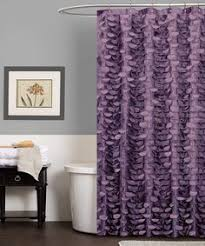 Purple Bathroom Curtains Better Homes And Garden Gathered Stripe Fabric Shower Curtain