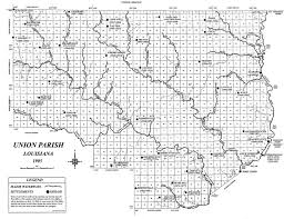 Parish Map Of Louisiana Usgenweb Archives 1905 Union Parish Louisiana Map