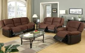 Berkline Recliners Ashley Leather Sofa And Loveseat Brown With Fabric Cushions Rooms