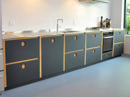 linoleum cuisine black kitchen with black furniture linoleum fronts and inox