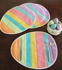 these easter egg placemats are so easy quilting digest