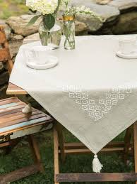 Coffee Table Cloth by Mystic Emb Tablecloth Attic Sale Linens U0026 Kitchen Attic