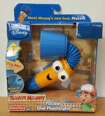 disney handy manny flicker talking flashlight flexible bilingual